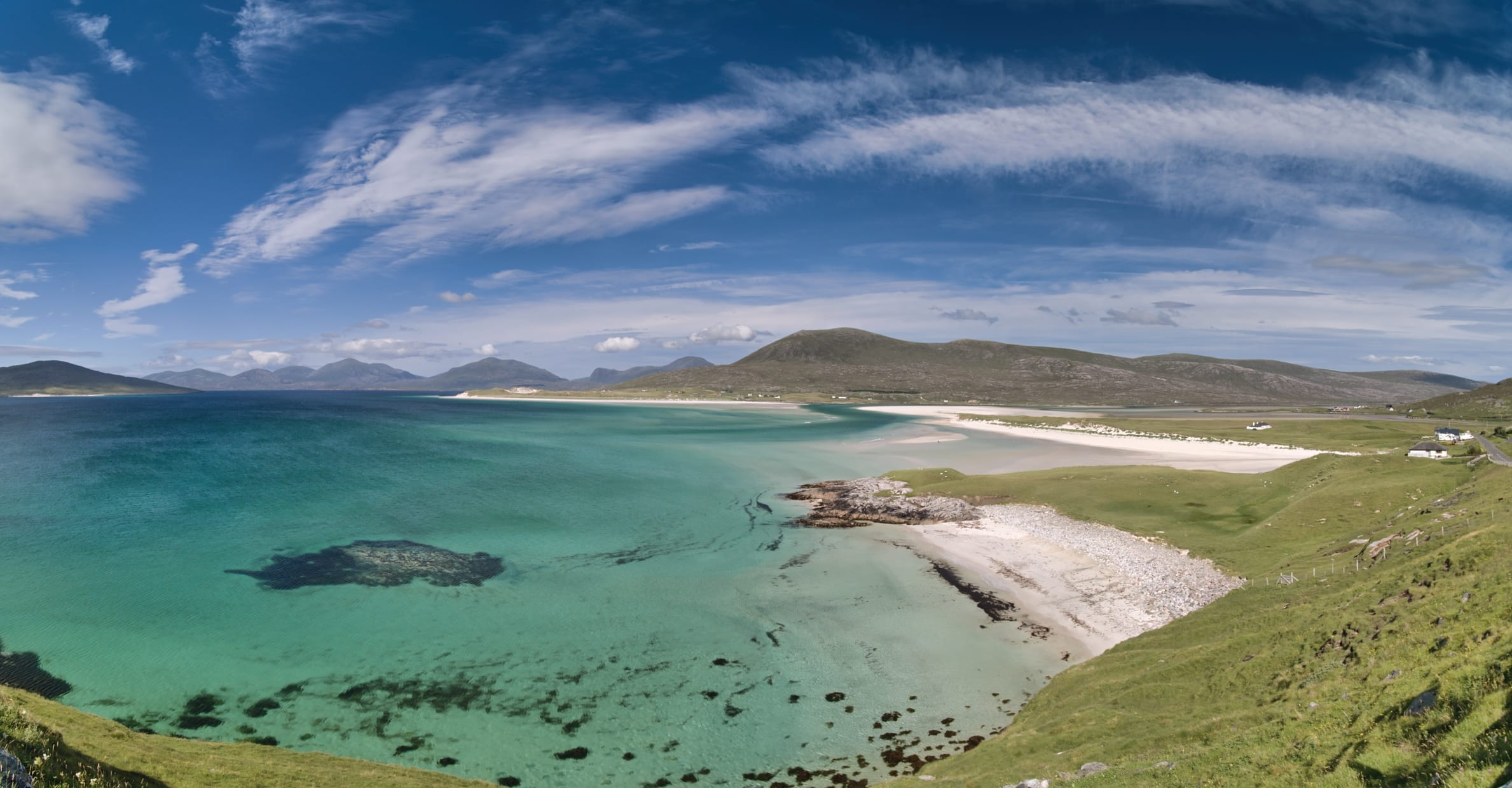 Seilebost Panorama. Harris. The Outer Hebrides, Scotland.