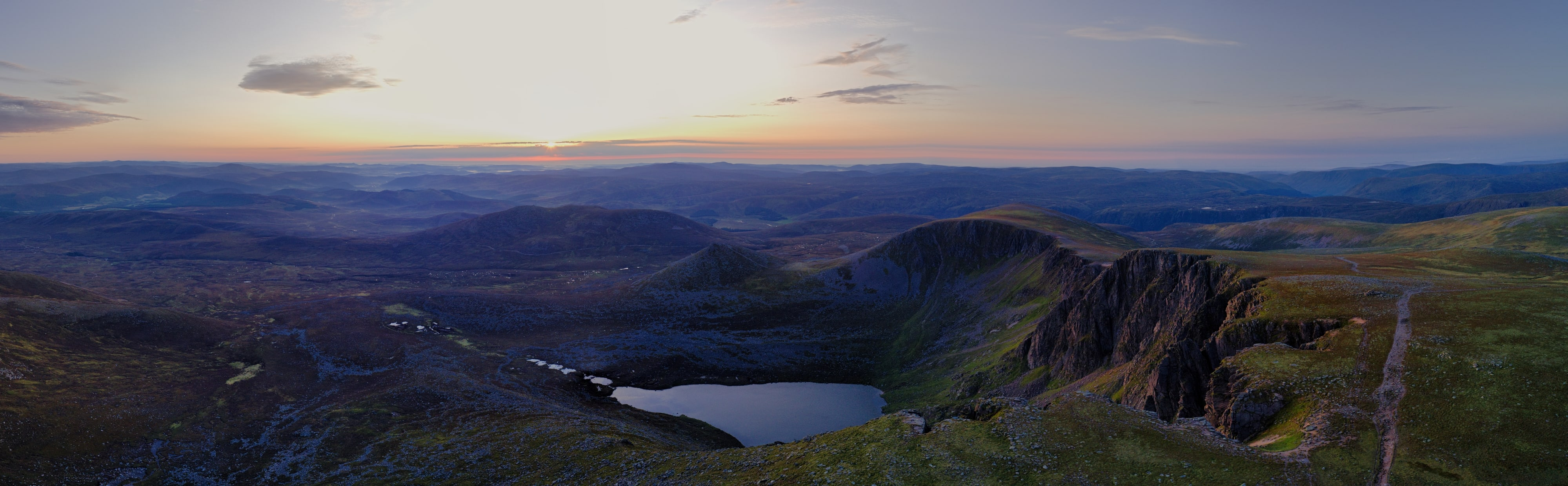 Sunrise over Lochnagar. The Cairngorms, Scotland. DJI Mavic 2 Pro